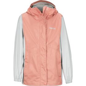 Marmot PreCip Eco Jacket Girls coral pink/bright steel